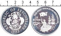 Изображение Монеты Сейшелы 25 рупий 1993 Серебро Proof- Первые французы на С