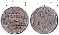 Изображение Монеты Данциг 10 пфеннигов 1923 Медно-никель XF