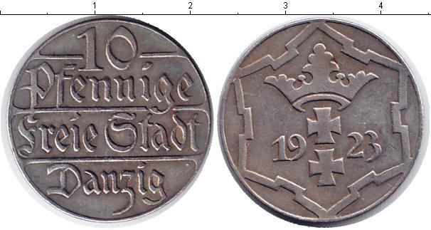 Картинка Монеты Данциг 10 пфеннигов Медно-никель 1923