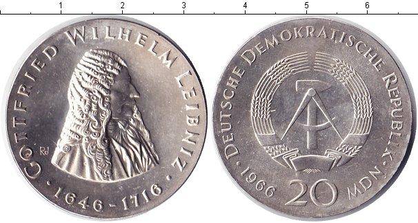 Картинка Монеты ГДР 20 марок Серебро 1966