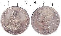 Изображение Монеты ГДР 20 марок 1966 Серебро UNC 250 лет со дня смерт