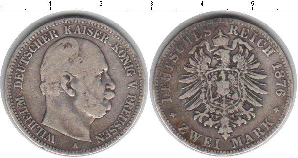Картинка Монеты Пруссия 2 марки Серебро 1876