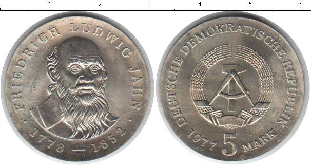 Картинка Монеты ГДР 5 марок Медно-никель 1977