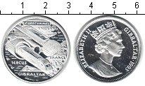 Изображение Монеты Гибралтар 14 экю 1993 Серебро Proof Евротоннель