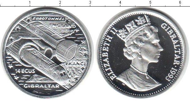 Картинка Монеты Гибралтар 14 экю Серебро 1993