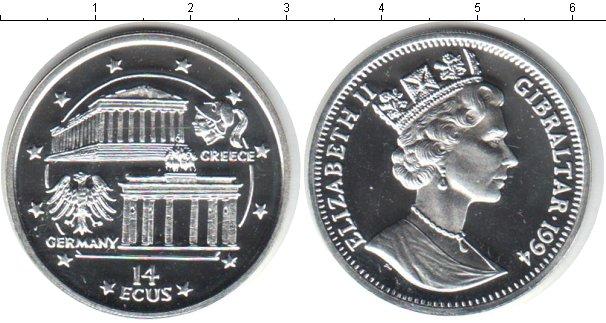 Картинка Монеты Гибралтар 14 экю Серебро 1994