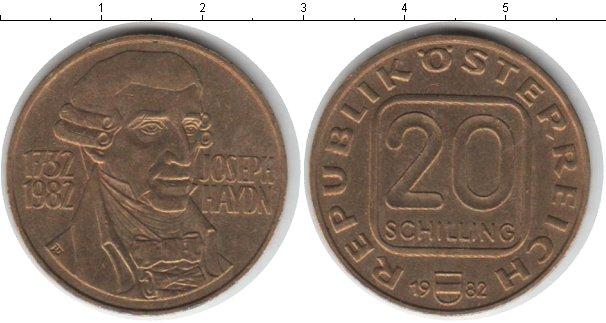 Картинка Монеты Австрия 20 шиллингов  1982