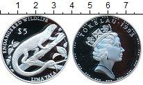Изображение Монеты Токелау 5 долларов 1993 Серебро Proof-