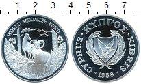 Изображение Монеты Кипр 1 фунт 1986 Серебро Proof- фауна