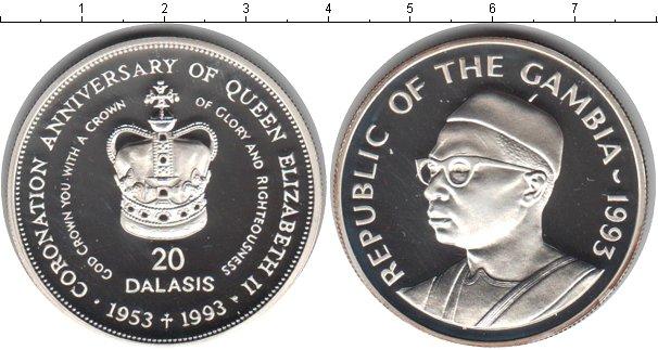 Картинка Монеты Гамбия 20 даласи Серебро 1993