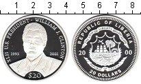 Изображение Монеты Либерия 20 долларов 2000 Серебро Proof- Уильям Клинтон