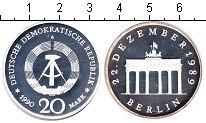 Изображение Монеты ГДР 20 марок 1990 Серебро Proof Открытие Бранденбург