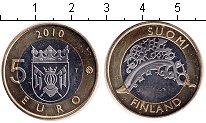 Изображение Монеты Финляндия 5 евро 2010 Биметалл UNC Исконная Финляндия