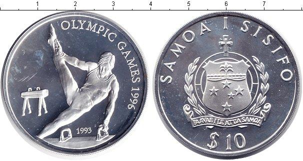 Картинка Монеты Самоа 10 долларов Серебро 1993