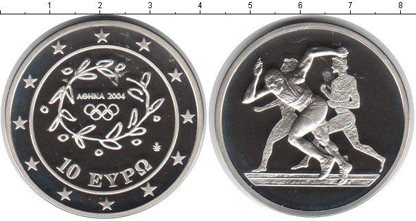 Картинка Монеты Греция 10 евро Серебро 2003