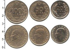 Изображение Наборы монет Турция Турция 1984-1987 0 Медно-никель UNC- В наборе 3 монеты но