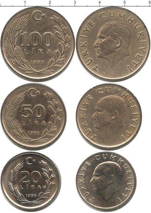 Картинка Наборы монет Турция Турция 1984-1987 Медно-никель 0