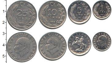 Изображение Наборы монет Турция Турция 1982-1986 0  XF