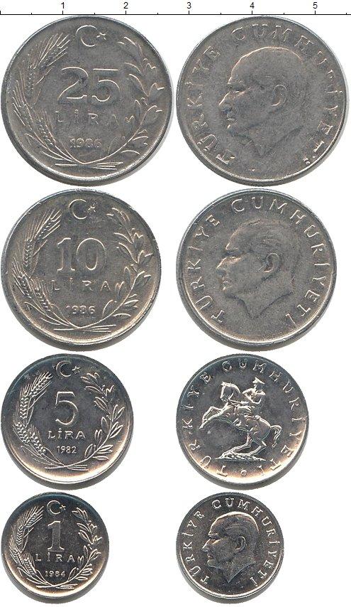 Картинка Наборы монет Турция Турция 1982-1986  0