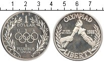 Изображение Монеты США 1 доллар 1988 Серебро Proof- Олимпиада 1988