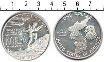 Изображение Монеты США 1 доллар 1991 Серебро Proof- Война в Корее