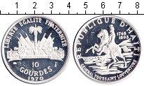 Изображение Монеты Гаити 10 гурдов 1970 Серебро Proof-