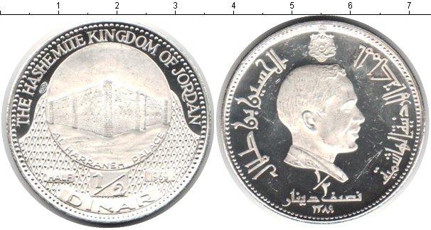 Картинка Монеты Иордания 1/2 динара Серебро 1969