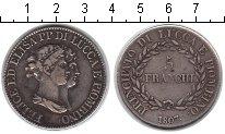 Изображение Монеты Лукка 5 франков 1807 Серебро VF Фелиция и Элиза