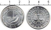 Изображение Монеты Италия 1 лира 1951 Серебро UNC- Лира 1951