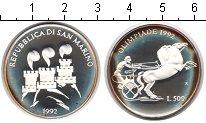Изображение Монеты Сан-Марино 500 лир 1992 Серебро Proof- Олимпиада 1992