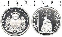 Изображение Монеты Сан-Марино 10000 лир 2000 Серебро