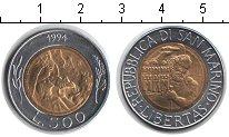 Изображение Монеты Сан-Марино 500 лир 1994 Биметалл UNC-