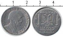 Изображение Монеты Албания 0,20 лек 1941 Железо XF Итальянская оккупаци