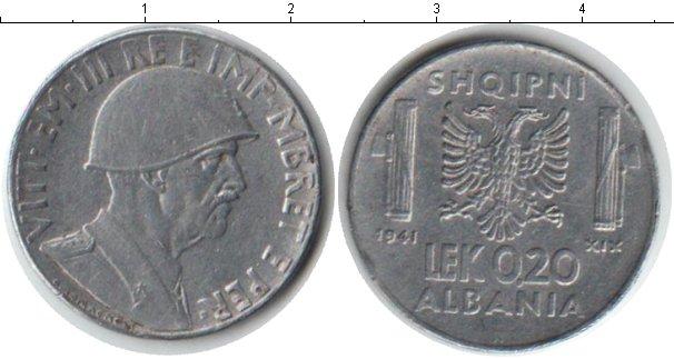 Картинка Монеты Албания 0,20 лек Железо 1941