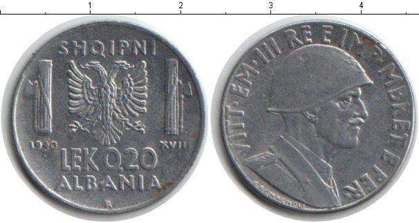 Картинка Монеты Албания 0,20 лек Железо 1940