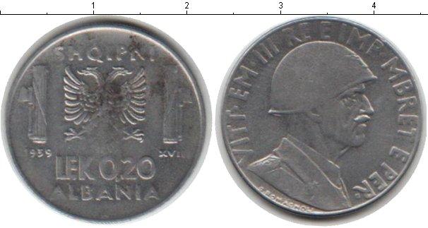Картинка Монеты Албания 0,20 лек Железо 1939