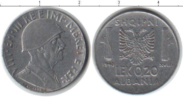 Картинка Монеты Албания 0,2 лек Железо 1940