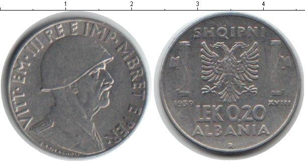 Картинка Монеты Албания 0,2 лек Железо 1939