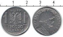 Изображение Монеты Албания 0,20 лек 1939 Железо XF Итальянская оккупаци