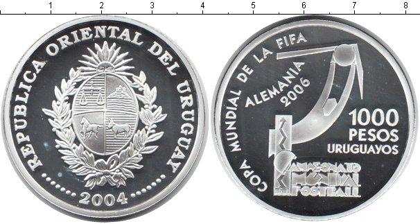 Картинка Монеты Уругвай 1.000 песо Серебро 2004