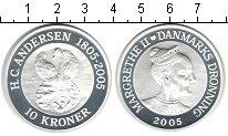 Изображение Монеты Дания 10 крон 2005 Серебро Proof