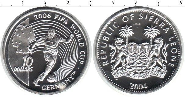 Картинка Монеты Сьерра-Леоне 10 долларов Серебро 2004