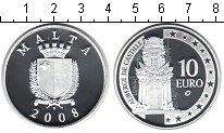 Изображение Монеты Мальта 10 евро 2008 Серебро Proof- замок