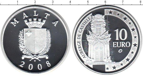 Картинка Монеты Мальта 10 евро Серебро 2008