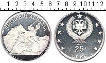 Изображение Монеты Албания 25 лек 1970 Серебро Proof-