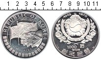 Изображение Монеты Южная Корея 1000 вон 1970 Серебро Proof-