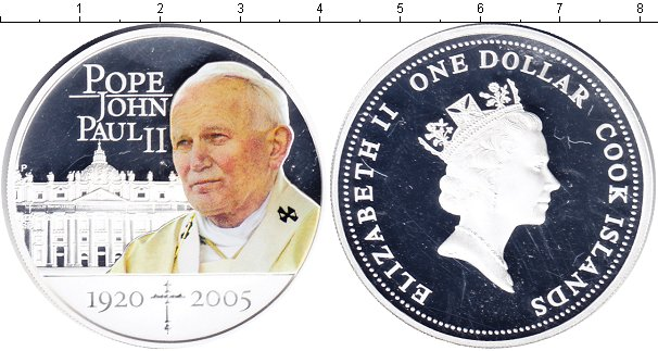 Картинка Мелочь Острова Кука 1 доллар Серебро 2005