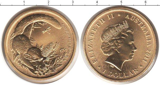 Картинка Подарочные монеты Австралия 1 доллар  2011