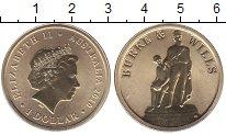 Изображение Мелочь Австралия 1 доллар 2010  UNC- Елизавета II. Бурке