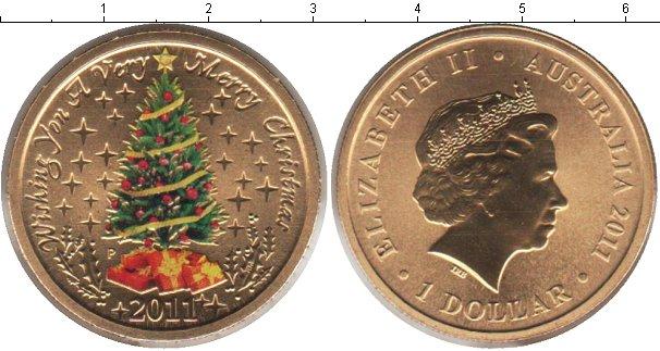 Набор монет Австралия 1 доллар Латунь 2011 UNC фото 2